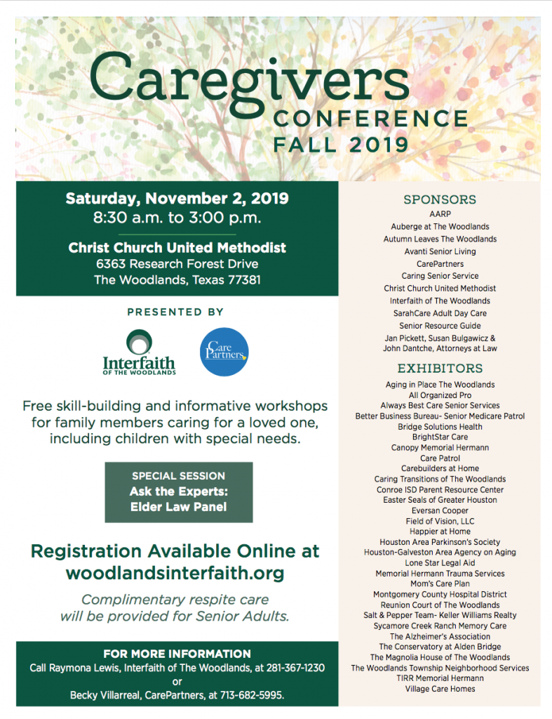 Caregivers Conference Fall 2019